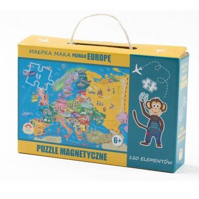 Maka Kids - Puzzle Magnetyczne Poznaje Europę Pudełko z Uchwytem