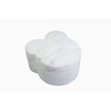 Misioo - Pufa Miś Velvet Biały Marmur