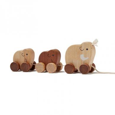 Kids Concept - NEO Zabawka do Ciągniecia Rodzina Mamutów