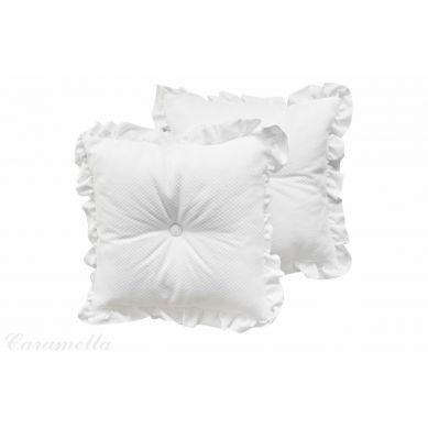 Caramella - Poduszka Dekoracyjna Shiny z Falbanką