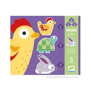 Djeco - Puzzle 3 Plansze 4,6,9el. Farma