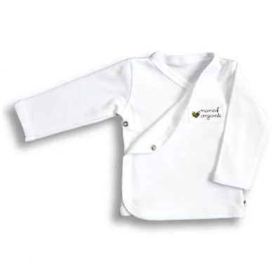 Nanaf Organic - Kaftanik Kimono Basic Biały 62cm