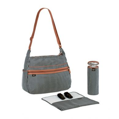 Lassig - Marv Torba z akcesoriami Urban Bag Pinstripe Anthracite