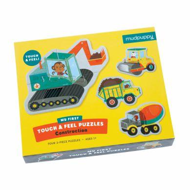 Mudpuppy - Sensoryczne Puzzle Pojazdy Na Budowie