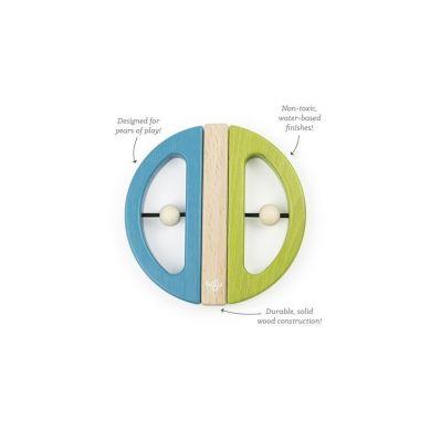 Tegu - Drewniane Klocki Magnetyczne Drewniane BABY & TODDLER Swivel Bug Green Teal 6m+