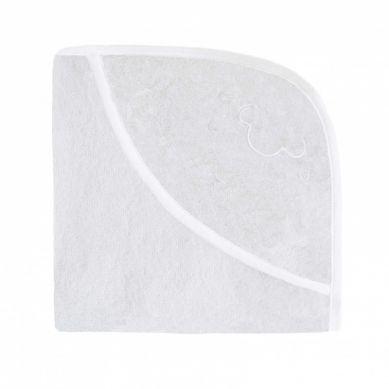 Effii - Ręcznik z Kapturkiem Owieczka Biały z Białą Lamówką 70 x 70 cm