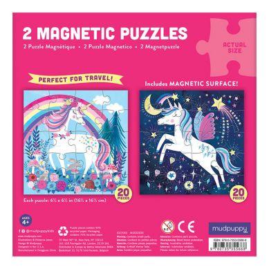 Mudpuppy - Puzzle Magnetyczne Magiczne Jednorożce