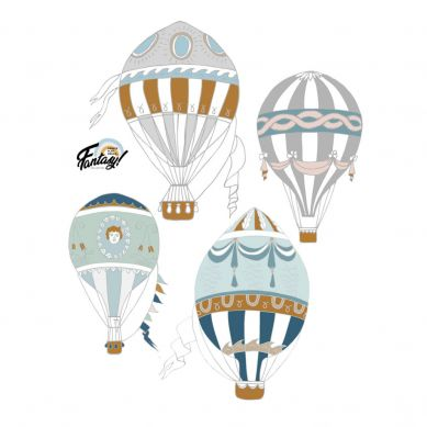 Dekornik - Zestaw Naklejek Ściennych Balony 4szt