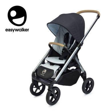Easywalker - Mosey+ Wózek Głęboko-spacerowy Charcoal Blue (zawiera stelaż, siedzisko z budką i pałąkiem)
