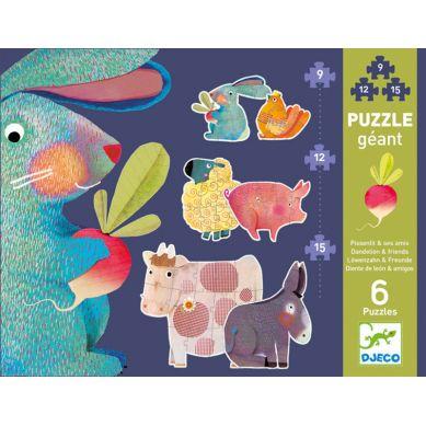 Djeco - Puzzle Duże Dendalion i Przyjaciele