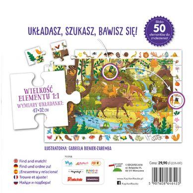 Kapitan Nauka - Puzzle Obserwacyjne Zwierzęta Leśne 4+