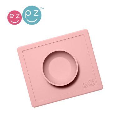 EZPZ - Silikonowa Miseczka z Podkładką 2w1 Happy Bowl Pastelowy Róż