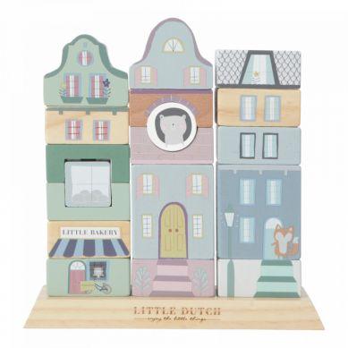 Little Dutch - Klocki Kamieniczka Mięta 1+