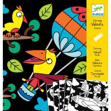Djeco - Aksamit do Barwienia Ptaki