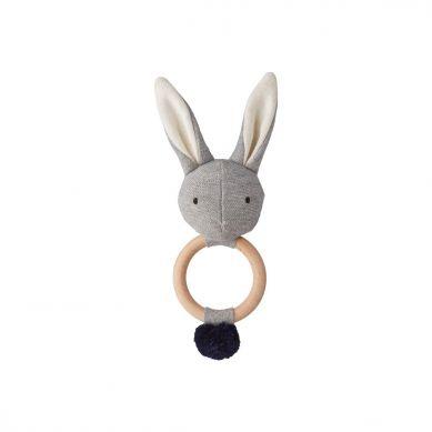 Liewood - Grzechotka Rabbit Grey Melange