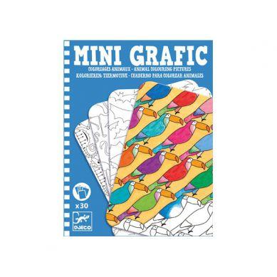 Djeco - Mini Grafika - Kolorowanie Zwierząt 4+
