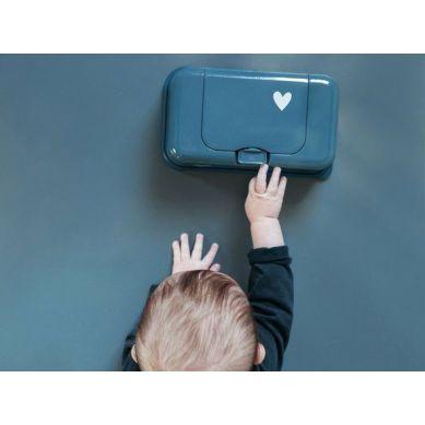 Funkybox - Pojemnik na Chusteczki Petrol Little Heart