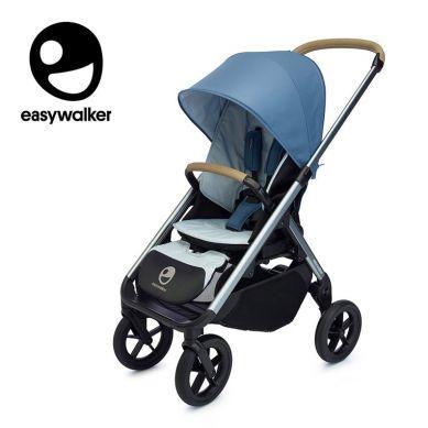 Easywalker - Mosey+ Wózek Głęboko-spacerowy Steel Blue (zawiera stelaż, siedzisko z budką i pałąkiem)