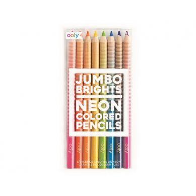 Ooly - Grube Neonowe Kredki Ołówkowe Jumbo Brights