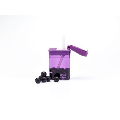 Drink In The Box - Bidon ze Słomką 240ml Purple