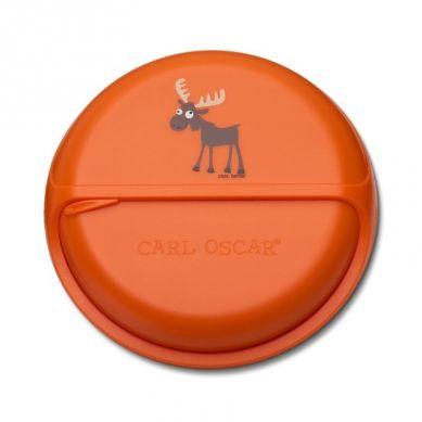 Carl Oscar - Rotable SnackDISC™ 5 komorowy obrotowy pojemnik na przekąski Orange Moose