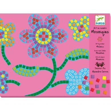 Djeco - Zestaw Mozaiek Kwiaty