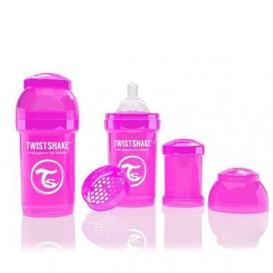 Twistshake - Butelka Anty-kolkowa 180ml Różowa