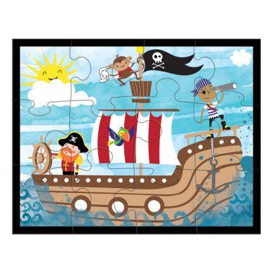 Mudpuppy - Puzzle w Saszetce 12 Elementów Piraci