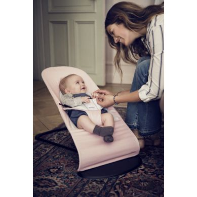 BabyBjorn - Leżaczek Balance Soft Cotton Jersey Różowy/Szary