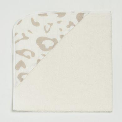 Bim Bla - Bambusowy Ręcznik Niemowlęcy Leo Beżowy