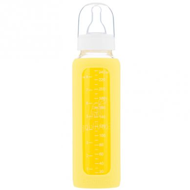 Eco Viking - Antykolkowa Butelka Szklana dla Niemowląt 240 ml Yellow