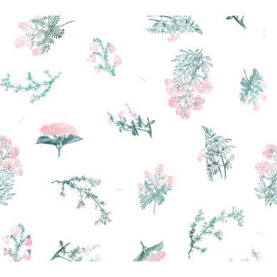 Lullalove - Bawełniana Pościel 100x135 cm Zielnik Róż