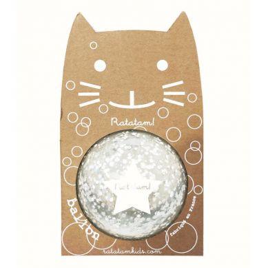 Ratatam - Piłka Mała 12 cm Bubble Silver