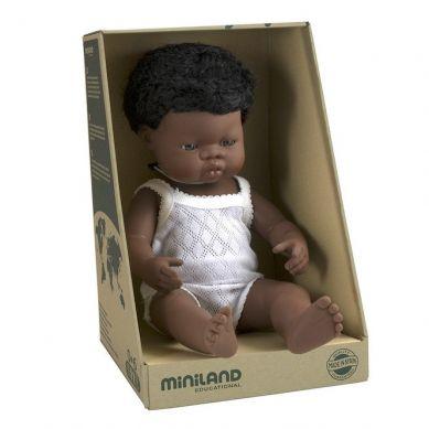 Miniland - Lalka Chłopiec Afrykańczyk 38cm