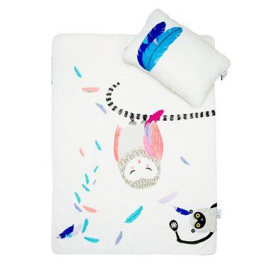 Maki Mon Ami - Satynowa Pościel z Wypełnieniem z Sową Polą (L)