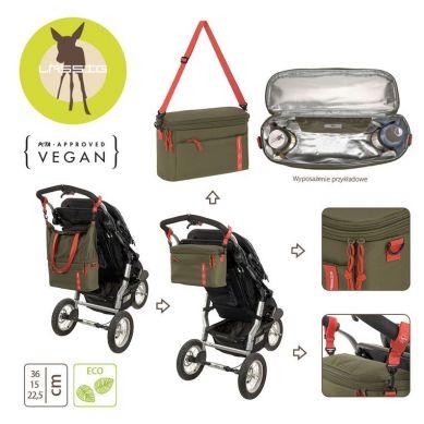 Lassig - Casual Label Torba Termiczna do Wózka z Możliwością Powiększenia 2w1 Olive