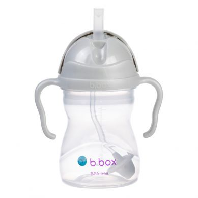 B. Box - Bidon Ze Słomką Szary 240 ml