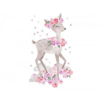 Pastelowelove - Naklejka na Ścianę Sarneka Różowa