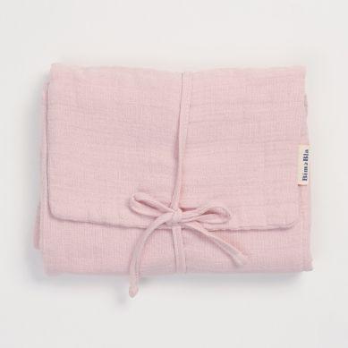 Bim Bla - Różowa Mata do Przewijania w zestawie z Pieluszkami
