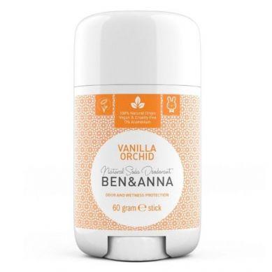Ben and Anna - Naturalny Dezodorant na Bazie Sody Vanilla Orchid w Sztyfcie Plastikowym 60g