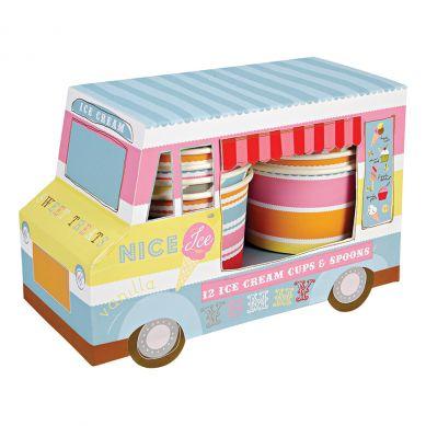 Meri Meri - Zestaw Kubeczków na Lody Ice Cream Van