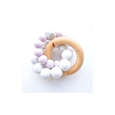 Loulou Lollipop - Gryzak Drewniany z Koralikami Lilac