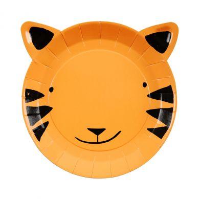 Meri Meri - Zestaw Talerzyków Urodzinowych Go Wild Tiger