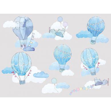 Pastelowelove - Naklejka na Ścianę Balony Błękitne