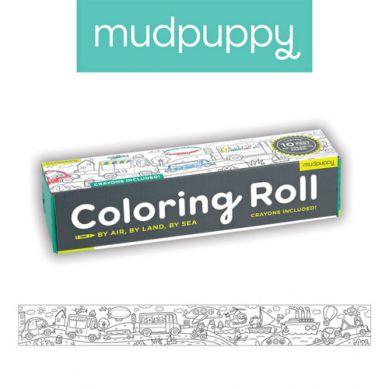 Mudpuppy - Kolorowanka w Rolce 3m z 6 Kredkami w Środki Transportu