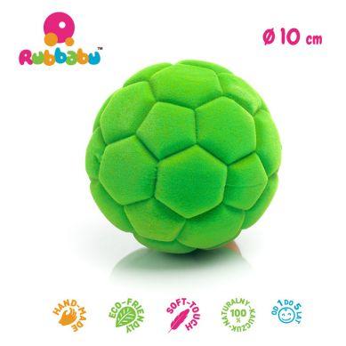 Rubbabu - Duża Piłka Sensoryczna z Mocną Fakturą Futbolowa Zielona