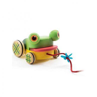 Djeco - Zabawka do Ciągnięcia z Dźwiękiem Żabka