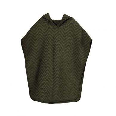 Filibabba - Poncho Zigzag Dark Green