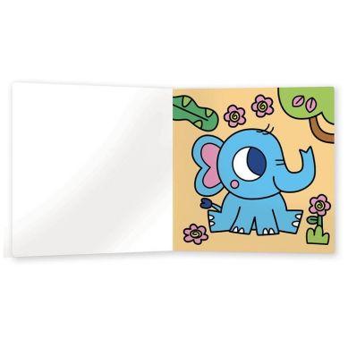 Auzou - Moja Pierwsza Kolorowanka Wodna Małe Zwierzątka 3+