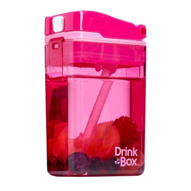 Drink In The Box - Bidon ze Słomką 240ml Pink